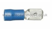 BLUE PARTIALLY PRE-INSULATED 6.35mm MALE SPADE TERMINAL ALT/T59