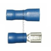 BLUE PRE-INSULATED female spade terminal 4.8mm