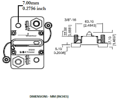 circuit breaker manual reset surface mount