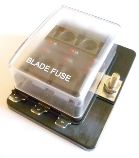 car parts 10-way blade fuse box led blown fuse failure indicator single  power in 10 out