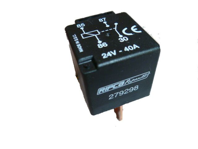relay 24vdc 40 amp switching current 4 pin alt rel279298 09