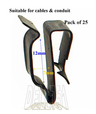 Spring Steel Wiring Chassis Clip Packs of 10 7 sizes available