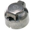 Towing electrics 12 volt 7 pin 12N METAL BODIED Trailer socket  <br>ALT/TP750-01